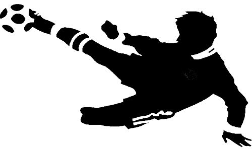 sticker mural footballer...